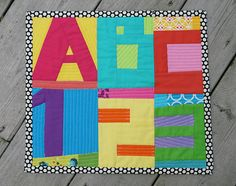 Fresh Lemons Quilts. ABC 123 Mini Quilt by Faith Jones. So cute and colorful!