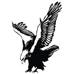 Easy to apply, this diving eagle wall decal is perfect for any nature buff. Made of vinyl, this wall art decal is perfect for any space. Includes: One (1) wall decal Materials: Vinyl Color: Black Easy