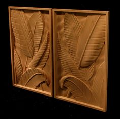 Carved Custom Pair - Leaves
