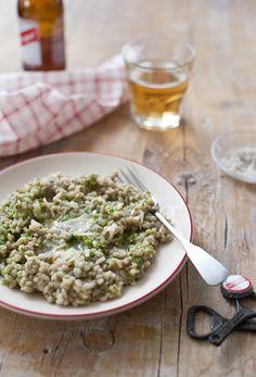 barley garlic white wine risotto