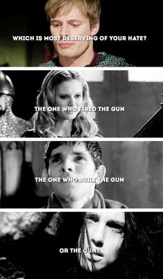 Arthur, Morgause, Merlin, and Morgana. Epic edit.
