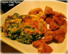 Creamy Spinach Artichoke Dip with fried bow tie pasta (a la Copeland's of New Orleans)