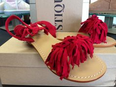 Mystique Sandals, Red Sandals, Bohemian Style, Bee, Classy, Contemporary, Chic, Stylish, Shoes