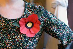 Paper flower corsages.