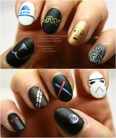 Star wars - Tutorial nail art 10 in 1: https://www.youtube.com/watch?v=EBbIOSReU24  #starwars #disney #tutorial #nailart #nail #nails #nailswag #nail2inspire #film #filminspired #starwarsnailart #starwarsnails #starwarsart #darthvader #stormtrooper #r2d2 #c3po #chewbacca #lightsword #spadalaser #iperspazio #blogger #bloggeritalia #youtube #youtubeitalia #youtuber
