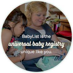 BabyList est le registre de bébé unique et universel comme vous
