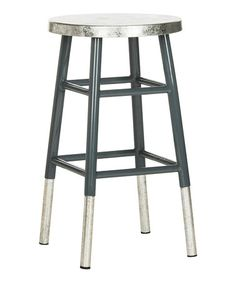 Lovely White Metal Counter Stools
