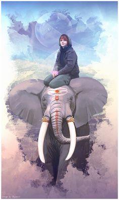 Girl+and+elephant+by+Geyzerrr.deviantart.com+on+@deviantART