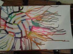 DIY volleyball melted crayon art!