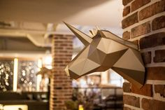 """PAPA, a Korean company whose name stands for """"Play Art. Polygon Art,"""" sells polygon animal sculptures made of high-quality paper that you can assemble"""
