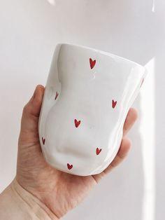 Red Heart Ceramic Mug Dp Ceramics Ceramics Homedecor Homedecorideas Mug Dishes Pottery Mugs, Ceramic Pottery, Pottery Art, Thrown Pottery, Slab Pottery, Pottery Studio, Ceramic Cafe, Ceramic Plates, Pottery Painting