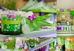 Party Box Design: Polka Dot Croc Party Feature