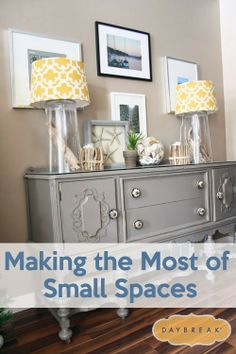 Great tips for decorating small spaces. #smallhouses #decorating #smallspaces