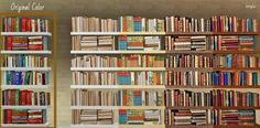 Lpvinyl21@BPS - Luna's Deco Bookshelves Recolors #Sims3