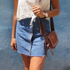 Monday basics in simple denim and Spell whites