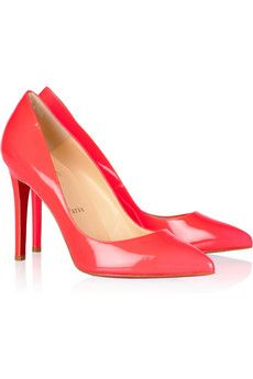 Louboutin...fluorescent-pink patent-leather...love.