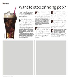 How to stop drinking soda. You can do it!
