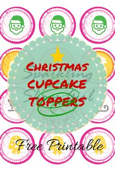 #Christmas #cupcaketoppers