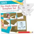 NO-MATH MITER TEMPLATE SET WITH FREE 6 IN 1 FABRIC MARKING PENCIL - Binding - Supplies - Nancy's Notions