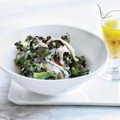 Kale Salad with Ricotta Salata, Pine Nuts & Anchovies Recipe - Nancy ...