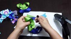 Moños y flores en cinta para decorar accesorios para el cabello paso a paso