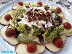 Mis recetas de cocina: Ensalada de manzana,nueces y salsa de yogur