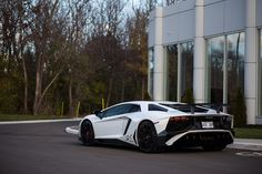 Lamborghini Aventador Super Veloce painted in Bianco Isis  Photo taken by: A.Melotti on Flickr