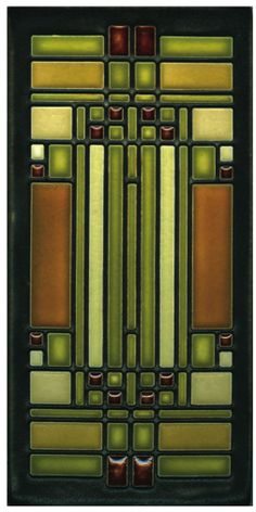 Frank Lloyd Wright stained glass window design | Awesome colors for the Eden Prairie shawl on Ravelry.