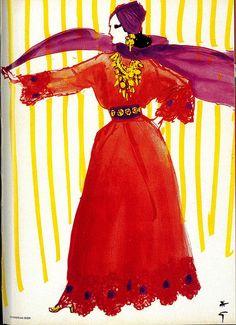 RENE GRUAU Christian Dior #René Gruau #Rene Gruau #vintage #fashion #ad