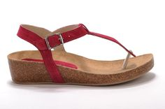 Gene by Cordani This flat is your new go-to spring and summer sandal! The natural cork bottom will mold perfectly to your foot, providing individualized support and all-day comfort. • Suede upper• Buckles at ankle• Natural cork bottom• Rubber sole• Made in Italy • Measurements:- Heel height: 1 1/4 in- Platform height: 3/4 in