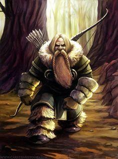 Old but Gold- Dwarf Hunter by carstenbiernat.deviantart.com on @deviantART