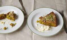 Cook - olive oil (pistachio, cardamom and olive oil cake) Baking Recipes, Dessert Recipes, Olive Oil Cake, Dessert For Dinner, No Bake Cake, Soul Food, Sweet Recipes, Delicious Desserts, Tasty