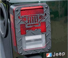 JT01B- Jeep Tweaks Black Tail Light Guards Jeep Wrangler JK 2007-2014