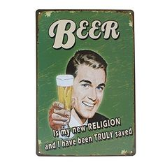 Buy Beer Tin Sign Vintage Metal Plaque Poster Bar Pub Home Wall Decor - Topvintagestyle.com ✓ FREE DELIVERY possible on eligible purchases