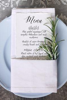 A menu for the memory books.