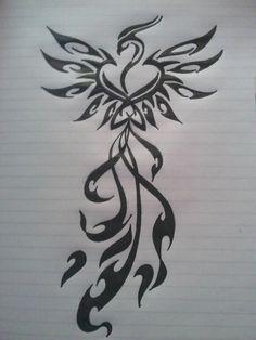Like Tattoo: Phoenix tattoos design for girls