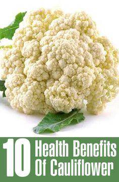 Top 10 Health Benefits Of Cauliflower