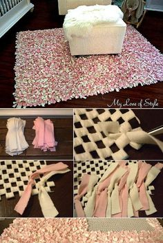 Check out the tutorial: #DIY Rag Rug #crafts #homedecor
