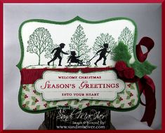 welcome christmas - stampin up