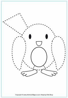 Robin Tracing - Christmas Printables For Kids