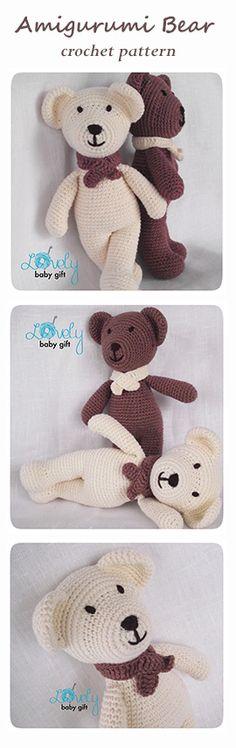 Crochet Pattern - Amigurumi Bear, amigurumi pattern, tutorial crochet http://www.ravelry.com/patterns/library/bear-amigurumi-animal