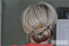How to do a Sideways French Twist- she has a really simple step by step video. Love it!