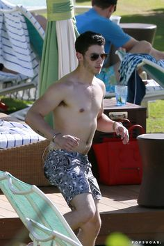 Pin for Later: Age Is Just a Number: Count the Years in Shirtless Guys 21: Nick Jonas