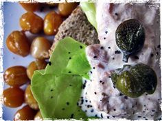 ceci, insalata, maionese con tonno, capperi Fruit, Food, Mayonnaise, Essen, Yemek, Meals
