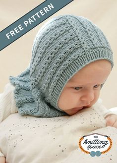 Craft this precious knitted lace baby balaclava guaranteed to provide warmth and comfort to your little one. This easy knitting pattern is knitted using double-pointed knitting needles and has sizes from preemies to 2 year-olds. It also makes for a thoughtful handmade baby shower present with an heirloom potential. | Discover over 4,500 free knitting patterns at theknittingspace.com #knitpatternsfree #knittingforbabies #winterknittingpatterns #winterknits #DIY #handmadegifts #giftideas