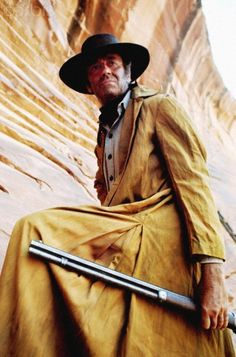 ONCE UPON A TIME IN THE WEST (1968) - Henry Fonda on location in Almeria, Spain - Directed by Sergio Leone - Paramount - Publicity Still.