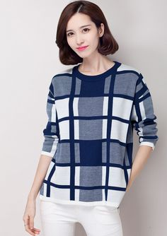 2014 new winter classic ⑧ fashion loose plaid long-sleeved round neck sweater ᗑ hedging sweater female short 2 Color S-XXXL 75-6G2014 new winter classic fashion loose plaid long-sleeved round neck sweater hedging sweater female short 2 Color S-XXXL 75-6G http://wappgame.com