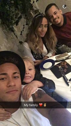 Neymar and his family