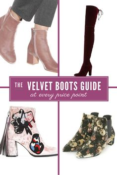 The ultimate velvet boots shopping guide at every price point and style. Under $100 velvet boots, velvet ankle boots, embellished velvet boots, OTK velvet boots. See the post on Layersofchic.com