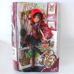 Cerise Hood Ever After High Mattel Doll Rebel 1st Release Fairy Tale Red Riding #DollswithClothingAccessories